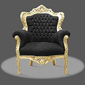 Fauteuil baroque Louis XV Fauteuil Antique Style Rococo AlCh0500GoSwFlDia