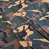 Stoff Baumwolle Jersey Meterware Tarndruck Camouflage grün braun Khaki schwarz Jagd Kleiderstoff
