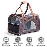 ubest Transporttasche, 46x26x28cm Hundetransportbox, Flugtasche Reisetasche für Hund Katze Hase Kaninchen Kleintiere, Dunkelgrau