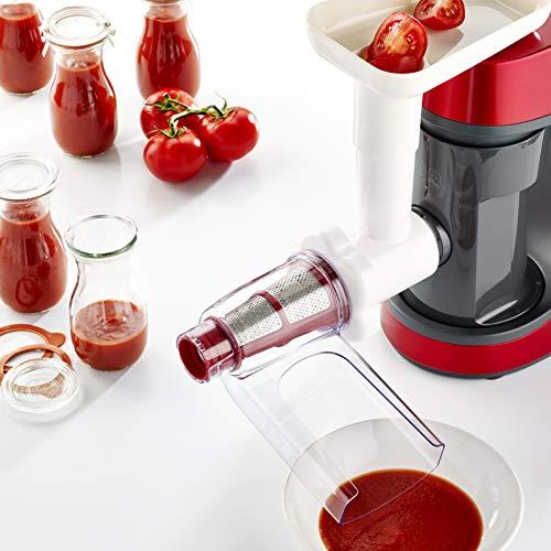 Moulinex Masterchef Gourmet QA502G - Robot Amasador 900 W, con batidora 1,5L, Bol de Acero Inoxidable 4,6L, bate, Corta, ralla, emulsión y amasa, 6 velocidades, Kit de pastelería, y libro de recetas