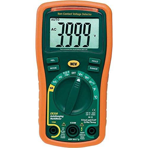 Loadfckcer Digital multimeter LCD 3999 V DC400m/4/40/400/600V EXTECH EX330 Extech True Rms Digital-multimeter