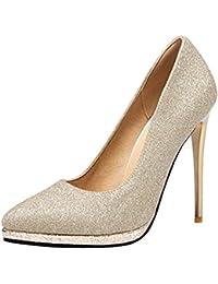 OCHENTA Mujer Atractivos de Moda Zapatos de Tacón Alto 12,5CM Boda