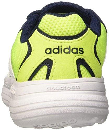 adidas Cloudfoam Speed K, Chaussures de Running Compétition Mixte Bébé, Multicolore Noir / Blanc / Jaune (Maruni / Ftwbla / Amasol)
