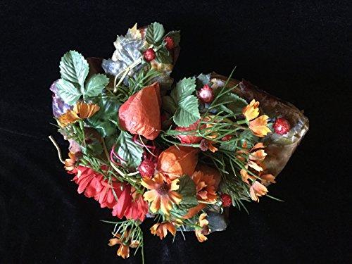 Herbstlich dekoriertes Ahornblatt für Wand oder Tür -