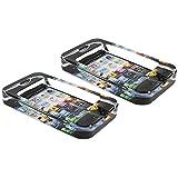 com-four® 2X Handy Glasaschenbecher, Aschenbecher im Smartphone-Design, 11,5 x 6,2 x 1,8 cm