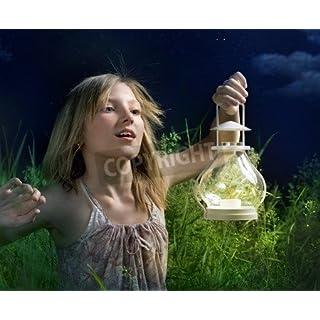 Little Girl Running on a green field. Mystical Night(9722598), Canvas, 50 x 40 cm
