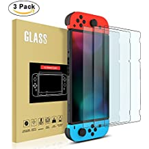 3 Pack Nintendo Switch Screen Protector , [Anti-Scratch] Tempered Glass Screen Protector for Nintendo Switch (2017) by YONTEX