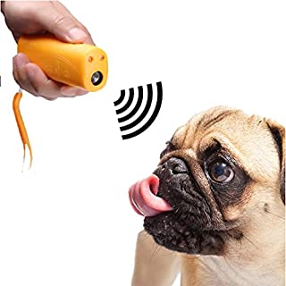 AFUT Anti Barking Dog Training Device Ultrasonic 3 in 1 Stop Barking Handheld Tool With LED