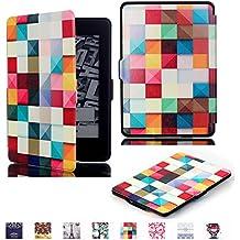 Funda para Amazon Kindle Paperwhite(All 2012, 2013 and 2015 Versions),Yihya Slim-Fit Smart Carcasa de Cuero Cover Case con la función Auto-Sleep/Wake-up + Stylus Pen--Estilo 03