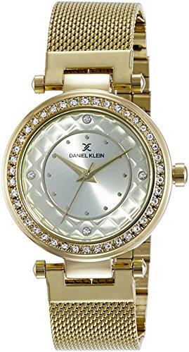Daniel Klein Analog Gold Dial Women's Watch-DK10967-2 image