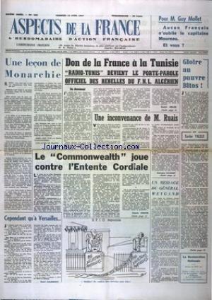ASPECTS DE LA FRANCE [No 448] du 12/04/1957
