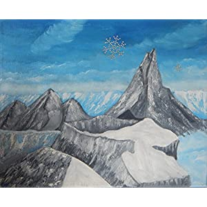 Im Gebirge mit Sternen - Strass- Steinen