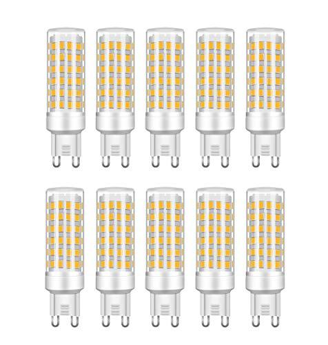 RANBOO G9 LED 9W equivalenti a 75W, Bianco Caldo 3000K 750LM, Non-Dimmerabile, AC220-240V, 360 Angolo a fascio, 10-Pack