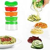 MBLAI Spiralschneider, 3-Flächiger Gemüse-Spiralschneider Zum Herstellen von endlosen Spaghetti-Nudeln, Gemüseschneider Schäler und Shredder