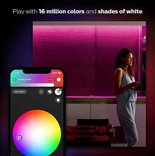 Philips Hue Lightstrip Plus [2 m] White and Colour Ambiance Smart LED Kit + Philips Hue Smart Home Motion Sensor (Works with Alexa, Google Assistant and Apple HomeKit)