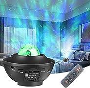 جهاز عرض ضوء ليلي من جينو، جهاز عرض 3 في 1 مجرة مع نجمة الليزر/ليد سديم سحاب/موجة المحيط المتحركة/لغرفة نوم ال
