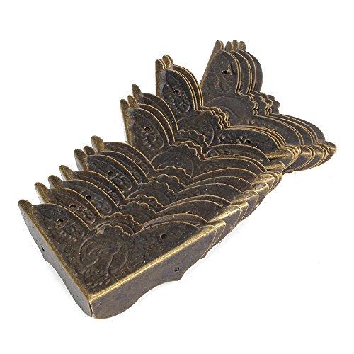 bqlzr 45 x 13 mm bronze ancienne Bureau pans de drapas Fer Boîte Coins de protection - lot de 20