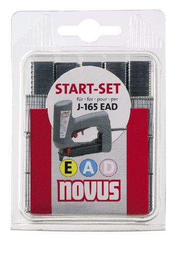 Preisvergleich Produktbild Novus Startset für Elektrotacker J-165 EAD mit 300 Typ J Nägeln, 1000 Typ 53/8 Feindrahtklammern und 600 Typ 53F/18D Flachdrahtklammern mit D-Spitze, Heftmittel für zahlreiche Anwendungen, 042-0653
