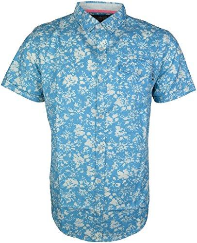 SoulStar Herren Freizeit-Hemd Blau - Blau