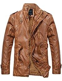Suchergebnis auf für: Lederjacke Herren: Bekleidung
