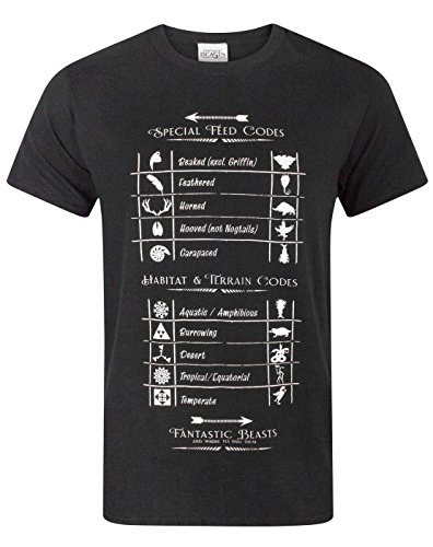 Fantastic Beasts and where to find them -  T-shirt - Maniche corte  - Uomo Black X-Large