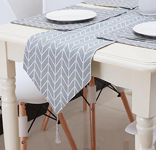 GAOYUHUA GY&H Grau Leinen Tisch Läufer Mahlzeit Couchtisch Abdeckung Tuch Hause Bett Läufer Dinner Party,gray,160*28cm