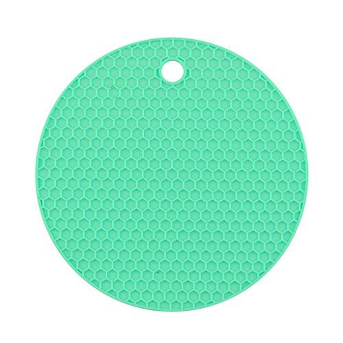 (Isolierkissen Silikagel Runde kleine Waben Tischmatte Schüssel Pad Coaster Hitzebeständige europäische Küche Anti-Hot-Pad Thermische Pad 4 in einem ( Color : J ))