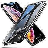 """ESR Funda para iPhone XS/X, Funda Transparente Suave TPU Gel [Ultra Fina] [Protección a Bordes y Cámara] [Compatible con Carga Inalámbrica] Enjaca Apple iPhone XS/X de 5.8"""" -Negro"""