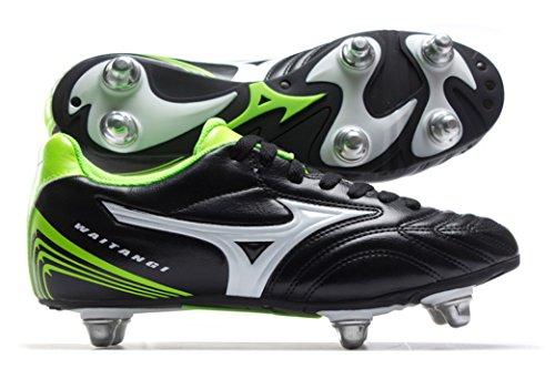 Mizuno Waitangi Jr, Chaussures de Rugby mixte enfant Black