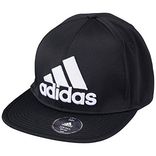 Brim Fitted Cap (adidas Kappe Flat Brim Cap Fitted, Schwarz, One size, S20551-OSFL)