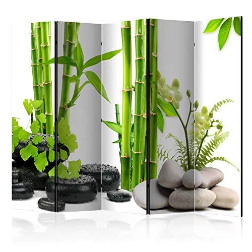 murando - Biombo Bambus Verde 225x172 cm - de impresión Bilateral en
