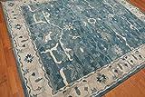 Mano Vecchio Stile Persiano Blu Tradizionale Orientale in Superficie Moquette e tappeti, 100% Lana, Blue, 9x12(274x366) cm
