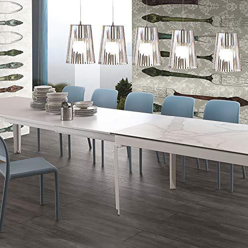 Mesa de comedor para 16 personas, de cerámica, color blanco ...