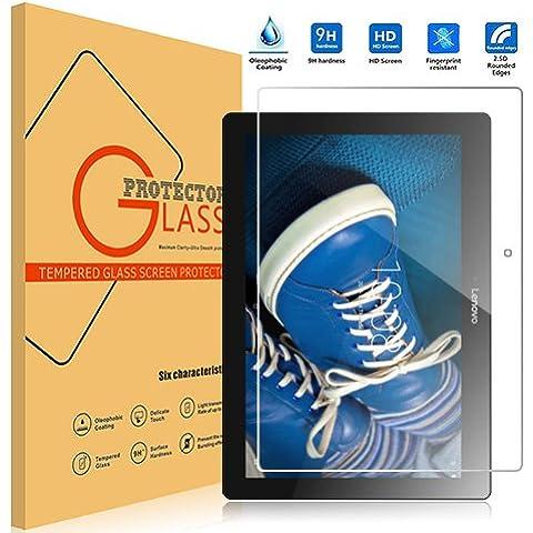 Lenovo Tab 2 A10-30f Cristal Templado,Vikoo 9H 0.3mm Ultra Delgado Shatterproof Pantalla de Vidrio Templado HD Flim Tempered Glass Screen Protector para Tablet Tab 2