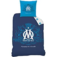 CTI 043739 Om Blason Housse de Couette 140 x 200 cm et Taie d'oreiller 63 x 63 cm Polyester Coton Bleu