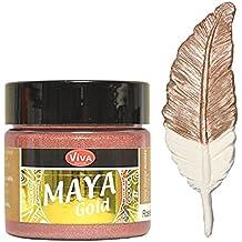 Viva Decor Maya Gold -Rosé-Gold- 45ml Metallglanz Farbe, Metallic Effekt