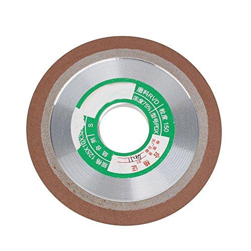 BQLZR Grit 150 Schleifmaschine 125mm Dia Kegel Ebene Harz Diamant Schleifscheibe Hartmetall Hart Stahl Silber