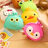 Generic Frog : 1pc New Cute Girls Mini Coin Purse Brand ld Silicone Round Small Pouch Wallet Case Box Rubber Key Animal Bag for Earphone
