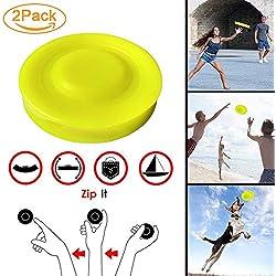 YHQbe Mini Frisbee, 2 Frisbee de Poche Pocket Flying Disc freesbee Silicone Flexible Soft Spin dans Attraper 2019 Nouveau pour Chiens Adultes Enfants Disque Volant Sports de Plein Air Beach Jouets.