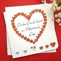 Handmade 'To The One I Love' Valentines Card, 3D Red Heart, Wife Husband Girlfriend Boyfriend