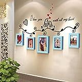 XING Combinaison de Mur de Photo en Bois Massif Creative Mural européen élégant Cadre Photo Mural Cadre Photo DIY (Couleur: C)