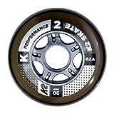 K2 30B3002.1.1 Roues Mixte Adulte, Noir, Taille : 80 mm