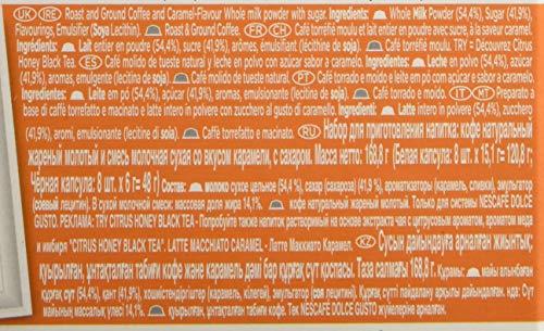 NESCAFÉ Dolce Gusto Dolce Gusto Latte Macchiato Café molido de tueste Natural y Leche en Polvo con azúcar Sabor a Caramelo, 3 x 169 Total: 507 gr
