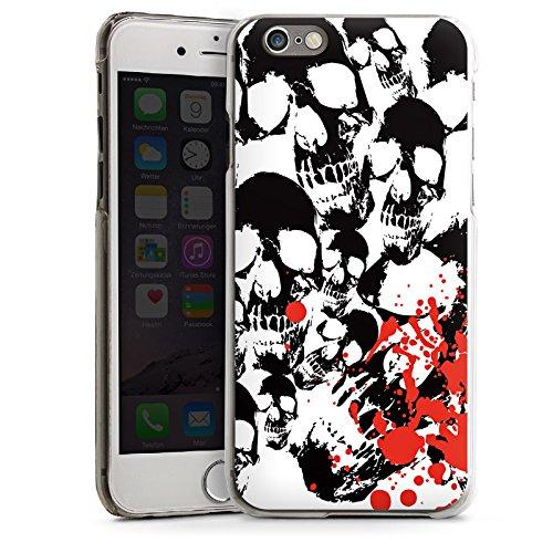 Apple iPhone 5 Housse Étui Silicone Coque Protection Crâne Sang Têtes de mort CasDur transparent