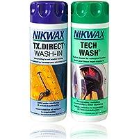 NIKWAX TECH WASH & TX DIRECT WASH IN TWIN PACK 300MLS by Nikwax
