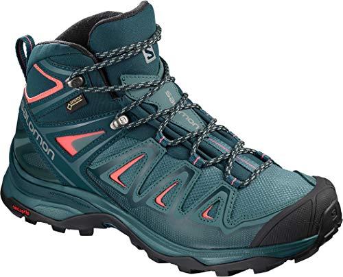 Salomon Damen X Ultra 3 MID GTX Trekking- & Wanderstiefel, Blau (Hydro.-Reflecting Pond-Dubarry 000), 40 2/3 EU (Salomon Wanderschuhe Frauen)