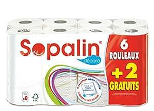 Sopalin - 409225 - Essuie Tout Cœur - 6 + 2 Gratuit