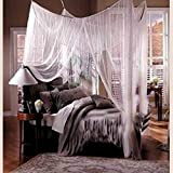 TruedaysR Four Corner Post Bed Princess Canopy Mosquito Net Full Netting, Queen Size by Truedays