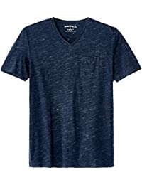 Celio Vebasic, T-Shirt Homme, Bleu (Heather Navy), Small (Taille Fabricant: S)