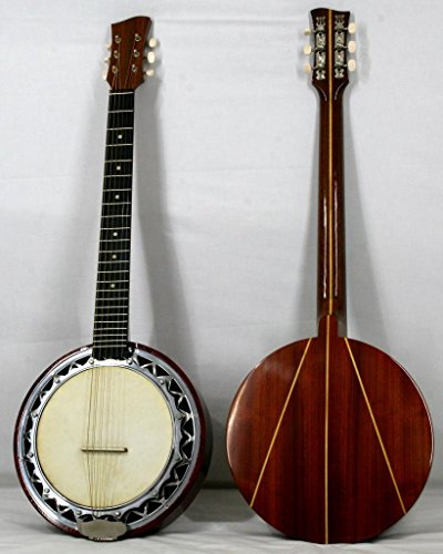 Musikalia luthery Linkshänder Version Banjo Gitarre, doppelte Aluminium Fall, Rückseite in Padouk mit Ahorn Inlay